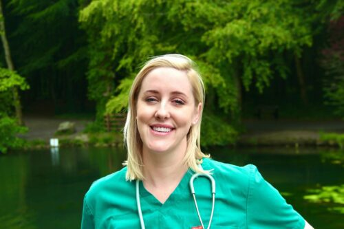 Dr. Lisa Cunningham outside smiling